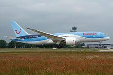thomson airways 787 8 at hannover airport in june 2016