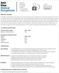Medical Receptionist Resume Beauteous Sample Medical Receptionist Resume Of Position Mmventuresco