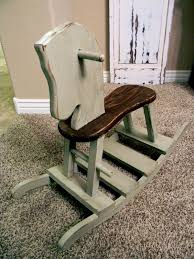 little bit of paint thrifty thursday rocking horse for baby s first birthday