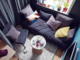ikea teen furniture. An Aerial View Of A Teen Room Lounge Area With Day-bed Sofa, Ikea Furniture I