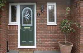 front door in green composite