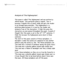 the highwayman essay creative writing the highwayman essays