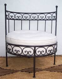 wrought iron garden bench and chair