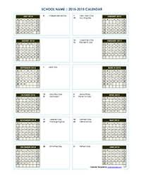 School Calendar 2015 2019 Template Yearly School Calendar Template Under Fontanacountryinn Com