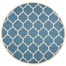 4 ft round outdoor rug courtyard blue beige 4 ft x 4 ft indoor outdoor round