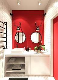 Red And White Bathroom Luxury Red Bathroom Accessories And Cool