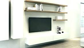 floating shelf under tv white shelves for unit luxury wall above comp