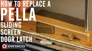 How to replace a Pella sliding screen door latch - YouTube
