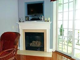 electric fireplace ideas with tv above corner fireplace with above fireplace design idea traditional corner fireplace
