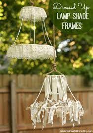 dressed up lamp shade frames