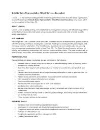 Sample Outside Sales Resume Cover Letter Sample