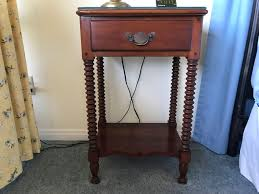 cherry wood nightstand. Cherry Wood Nightstand With Turned Legs By Pennsylvania House Lewisburg Chair And Furniture Co [Photo