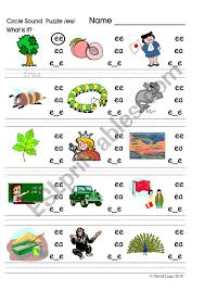 Long vowel sounds are vowel sounds whose pronunciation is the same as its letter. Circle Sound Puzzle 3 Phonics The Ee Sound Esl Worksheet By David Lisgo