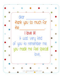 Blank Thank You Notes Free Printable Fill In The Blank Thank You Note Polka Dots