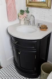black white french bathroom makeover black white vanity bathroom makeover so much