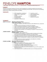 General Objective Resume For Summary With Highlights And Experience