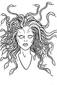 Small Picture Art Of Tessa Crawford Medusa Coloring Pages Printable Coloring