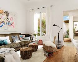 View in gallery Artistic white living room with bursts of color