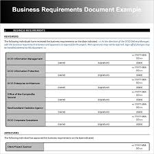 Attractive Business Requirement Document Template Adornment - Resume ...