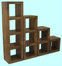 Cube Bookcase Mango Wood Furniture Home Furniture Buy Indian