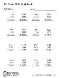Fourth Grade Addition Worksheet Printable : Kelpies