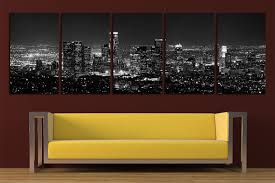 on wall art stores los angeles with los angeles canvas print wall art set los angeles skyline los