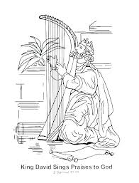 David And Goliath Coloring Pages With Story Printable Movie Source