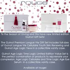 the guinot premium longue vie gift set includes full sizes of guinot longue vie cellulaire youth skin renewing and guinot age logic yeux in a collectible