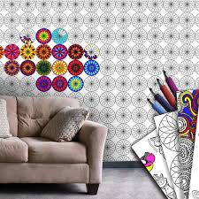 personalized coloring wallpaper book l and stick with regard to for walls plan 2