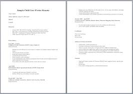 ... Sample Child Care Resume with ucwords] ...