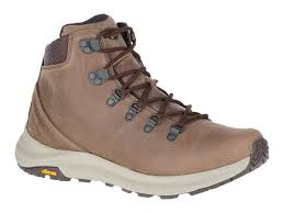 merrell ontario mid hiking boots full grain leather men s