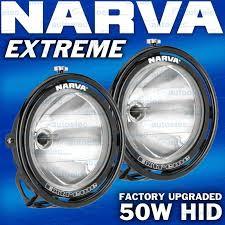 Narva Hid Lights Narva Extreme Hid Pencil Spot Beam Driving Lights Pair Lamps