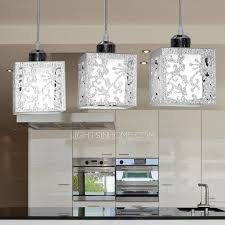 3 light rectangular type glass shade stainless steel pendant lights pertaining to chandeliers ideas 15