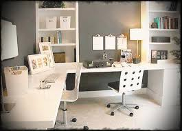 home office white desk. Furniture Elegant Home Office Design Idea With White Desk Chairs Gray Wall And Bookshelf Fancy Ideas