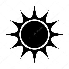 Black Abstract Sun Vector Graphic Stock Vector Yupiramos 115417392