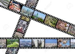 Film Strips Pictures Tokyo Capital City Of Japan Illustration Film Strips With
