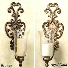 golden mirrored pillar candle holder wall sconce holders tag sconces electric decor non antique silver large