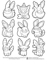 Eeveelution Coloring Pages Printable