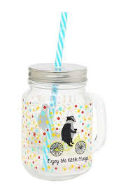Buy IVY Printed Transparent Mason Jar | Shoppers Stop