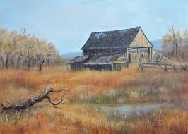 painting of an old barn by contemporary paintings of american landscapes and seascapes by luczay