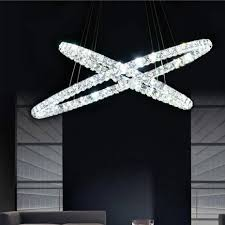 dimmable crystal pendant light ring pendant lights circle rings indoor lamp modern crystal pendant light circle lamps lighting uk 2019 from guojianglamp