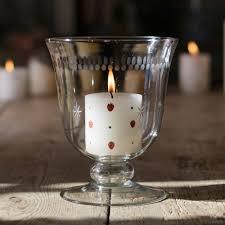 Hand Engraved Glass - Small Hurricane Vase/ Rose Bowl