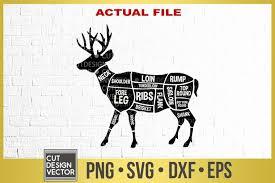 Cartoon santa claus and elk vector. Deer Meat Cuts Svg 305296 Svgs Design Bundles