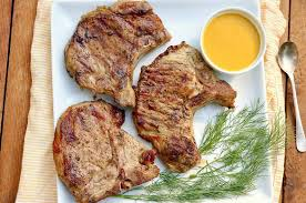 So, i thought a simple sauce served with rice pilaf and some grilled eggplant would work. The Fountain Avenue Kitchen Pickle Brine Pork Chops Or Chicken With Liquid Gold Sauce