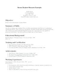 Nursing Student Resume Nursing Student Resume Template Objective