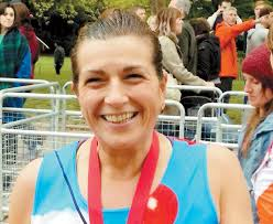burnham a 53 year old from the village is running the marathon in memory of her father who passed away from chronic obstructive pulmonary disease copd