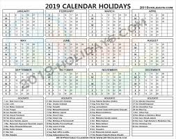 India Public Holidays 2019 Printable | 2019 Official Holidays Template