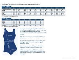 Youth Swim Jammer Size Chart Zumo Sizing Chart