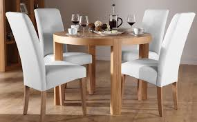 york round oak dining table and 4 chairs set grange white round oak dining room table