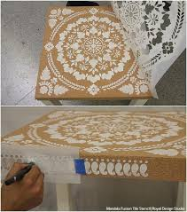 cork furniture. diy home decor ikea hack how to stencil furniture with cork sheets video tutorial